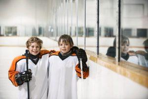 Hockeypolare i vått och torrt